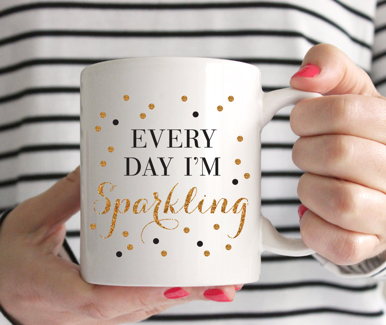 Coffee mugs with signs