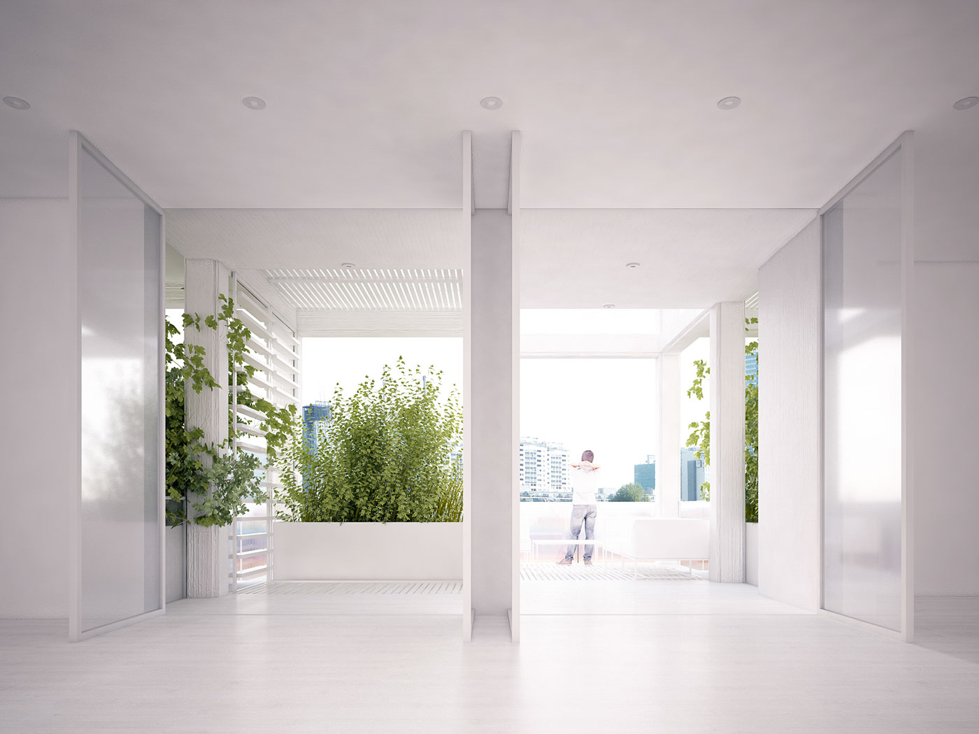Vijayawada Garden Estate - white interior