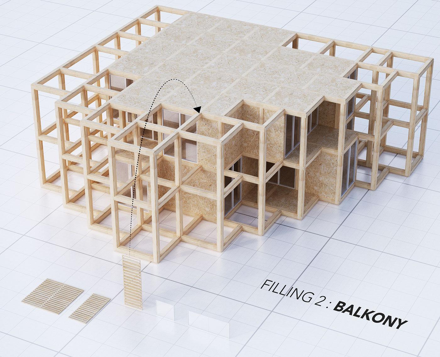 A modular system of a structural framework - balcony