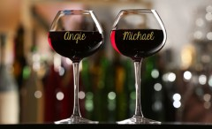 Amazing wine glass marker