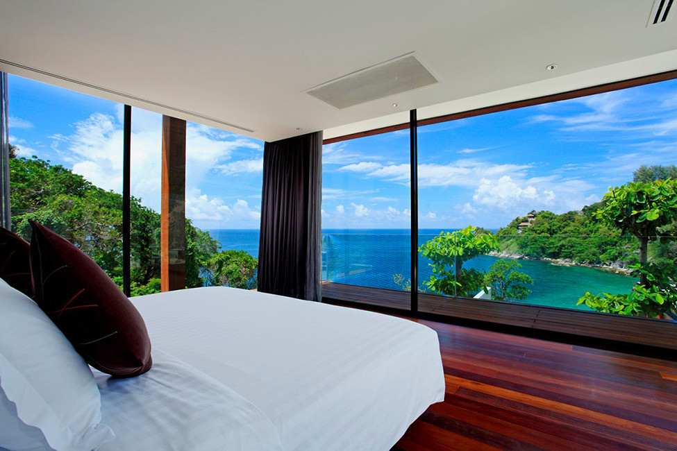 the greatest selection of bedrooms with floor to ceiling windows