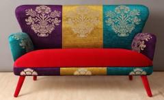Handcrafted velvet sofa