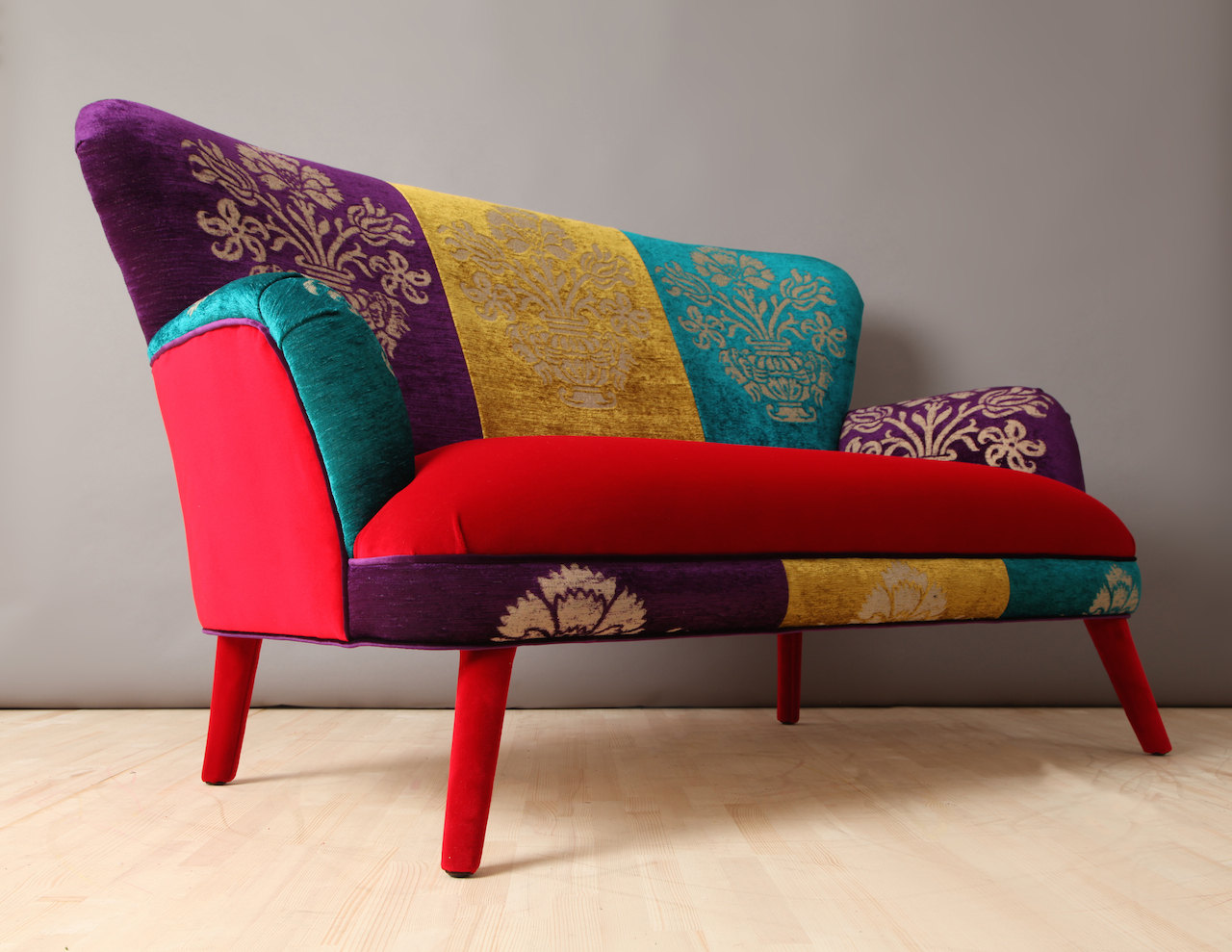 Colorful Velvet Sofa Adorable Home
