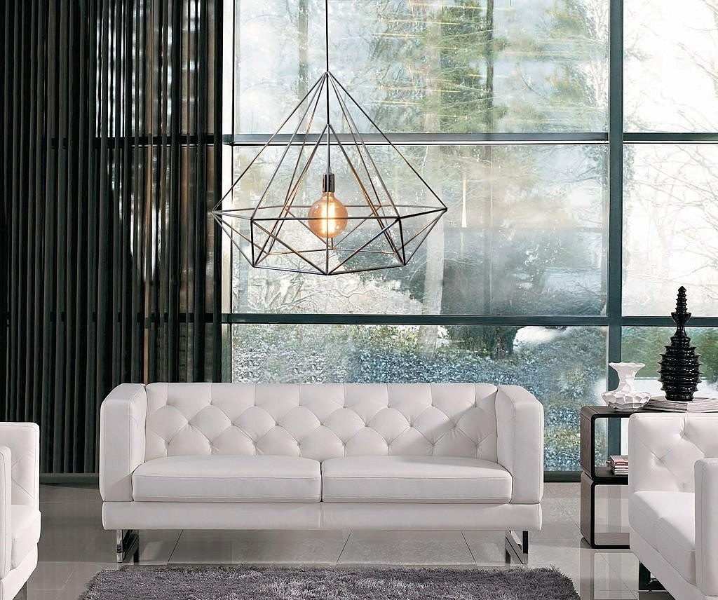 Diamond Pendant Cage Light for a Living room