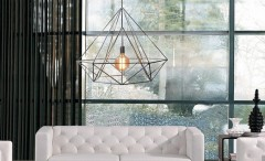 Modern pendant cage light
