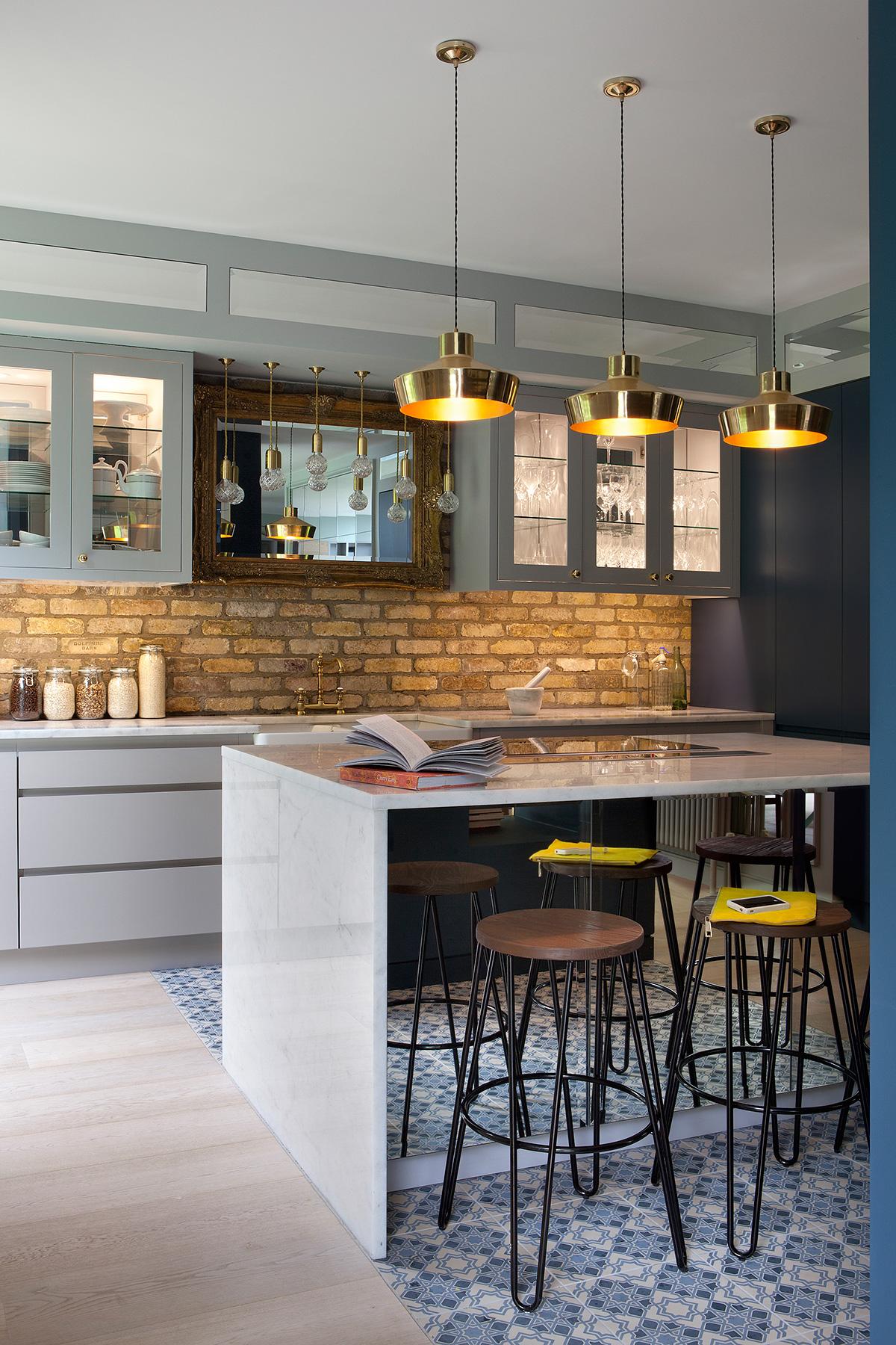 The kitchen in the Ballsbridge Residence