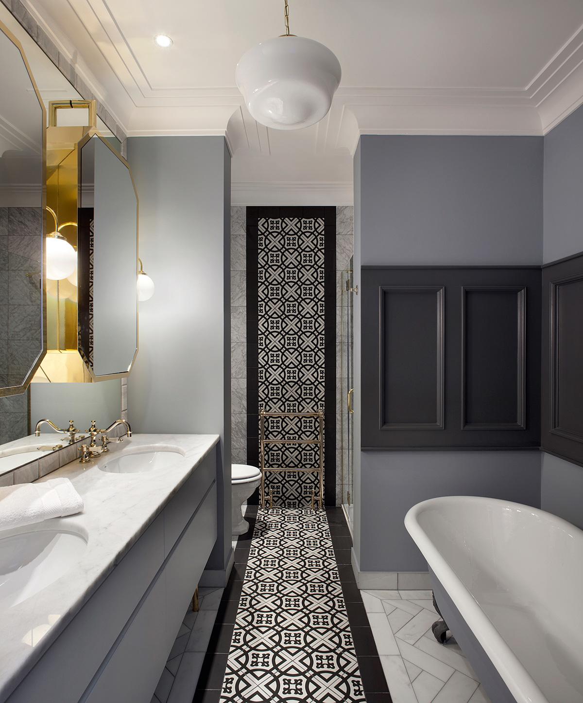 The bathroom in the Ballsbridge Residence