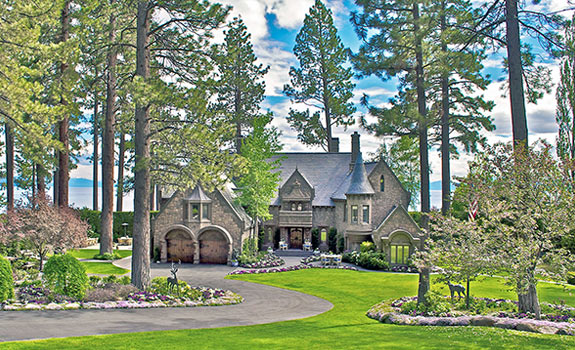 The castle on Tahoe lake