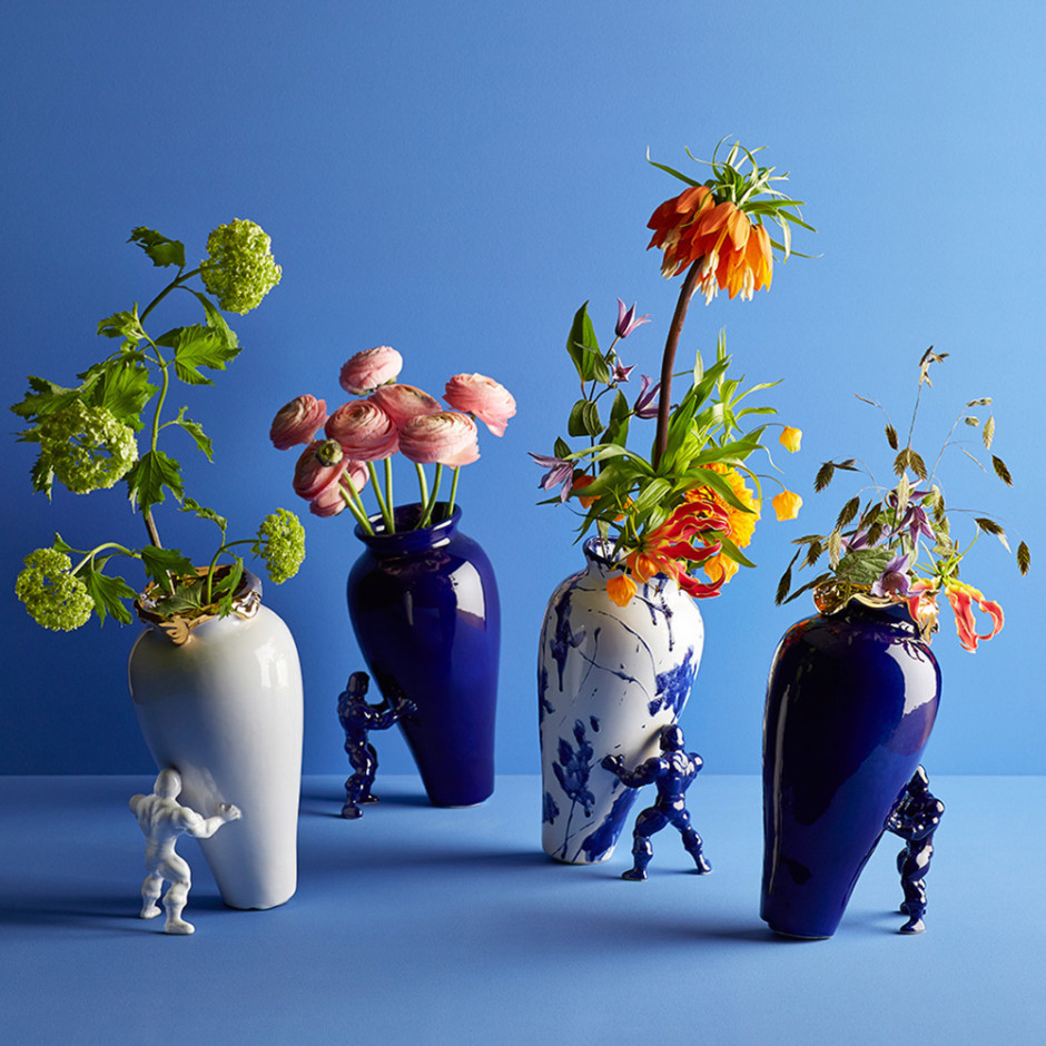 The Super Hero Vase in different colors
