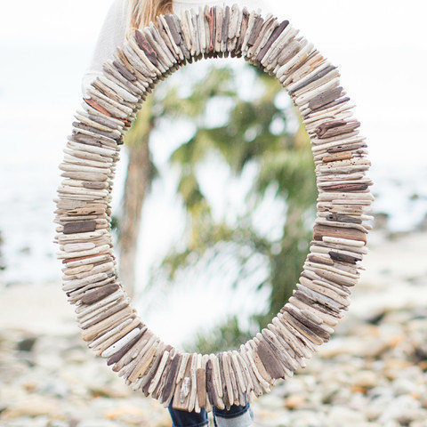 Coastal Driftwood Mirror-1