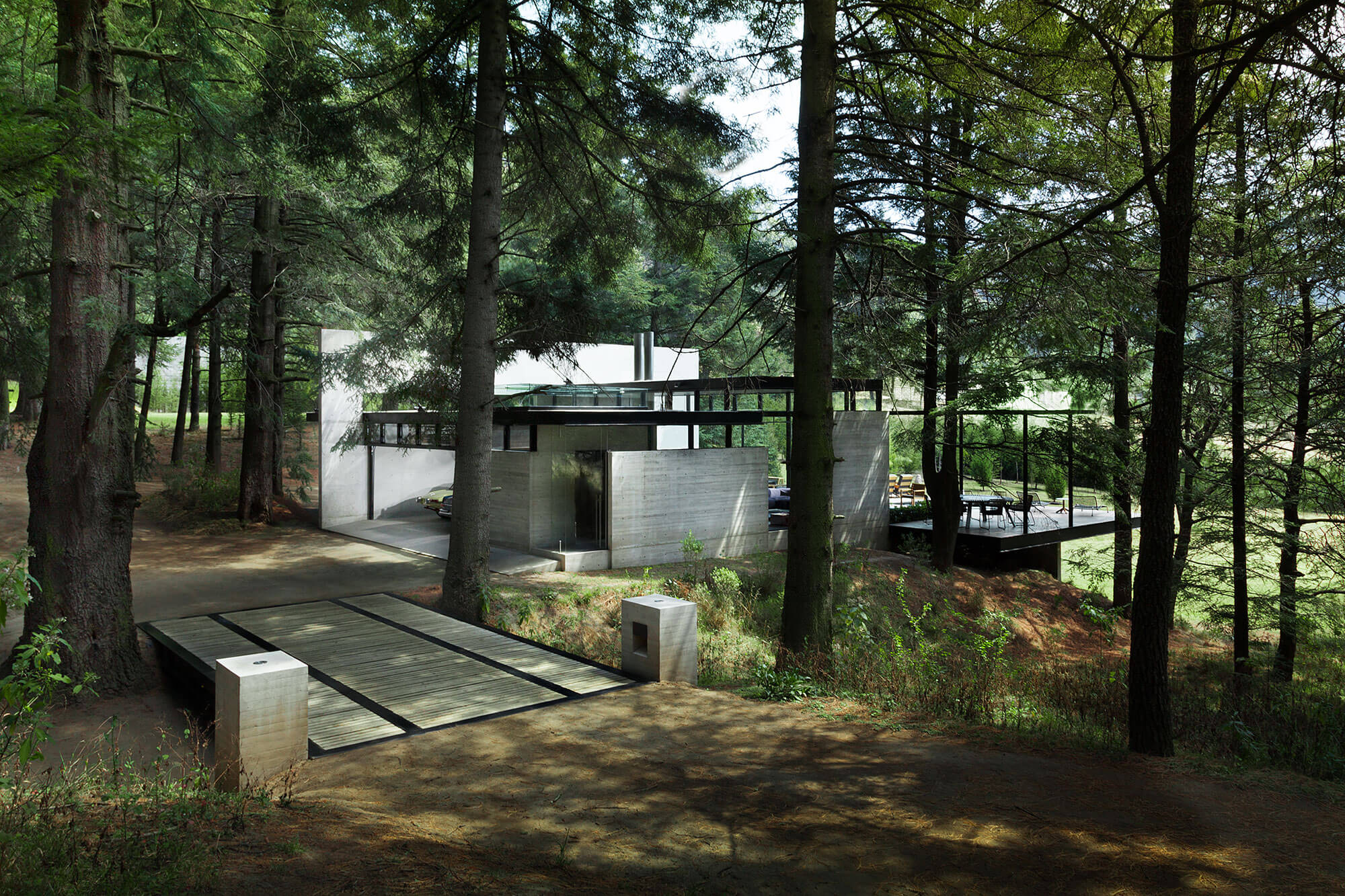 Contemporary house surrounded by trees-1
