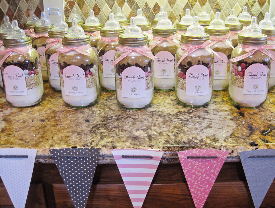 real baby shower diy masonjar cookies free