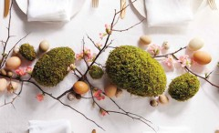 Cheerful Easter Table Settings and Centerpieces