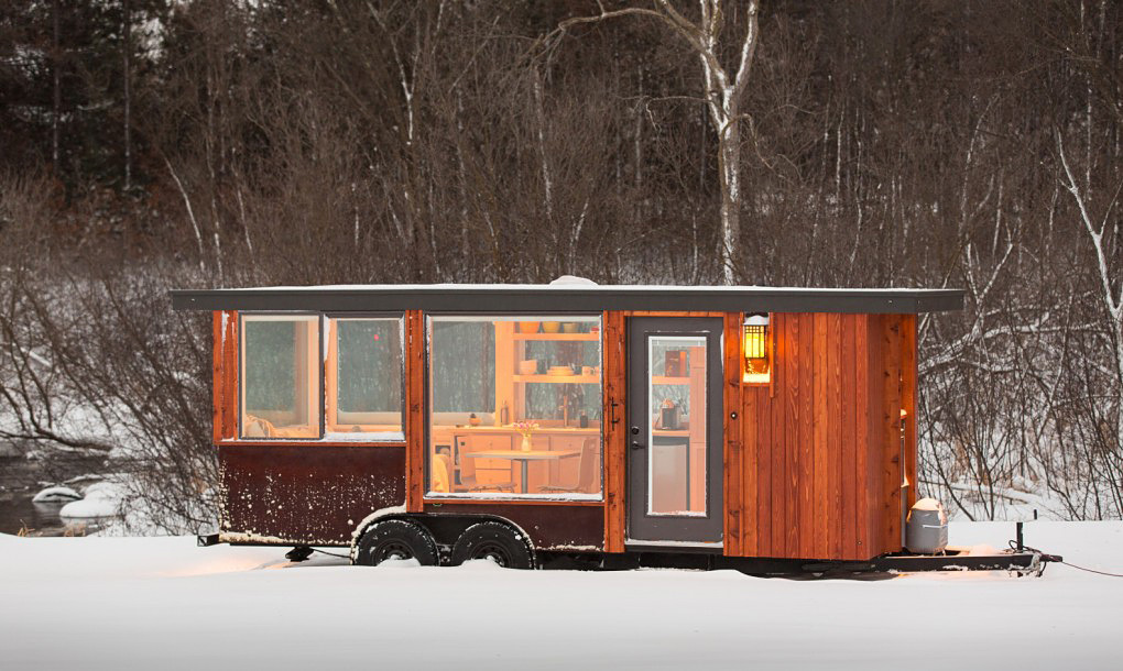 Tiny Trailer Home-in-woods
