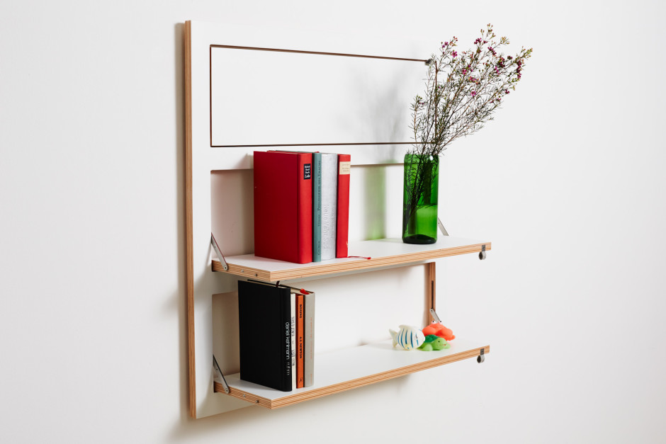 The Triple Slim modular shelf