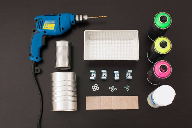 Materials needed to make DIY desk organizers