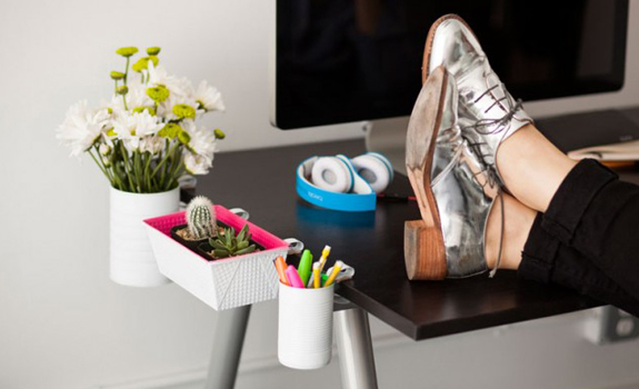 DIY Desk Organizers For The Tiny Work Top