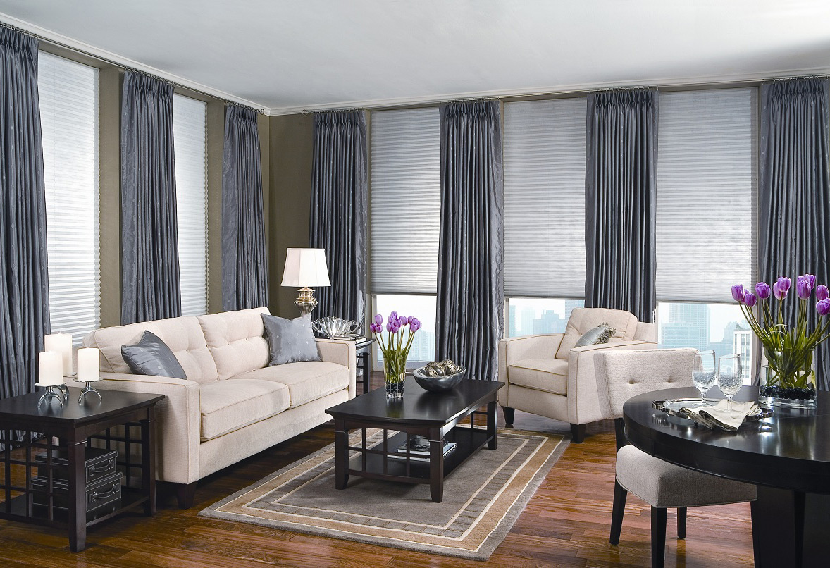 Floor-to-ceiling sheer curtains