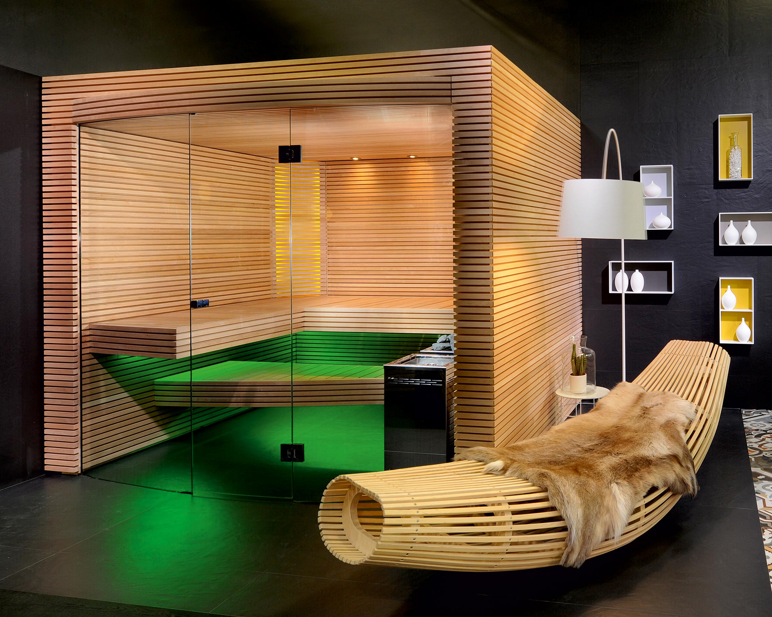 Ovola home sauna by k ng ag saunabau adorable home for Sauna home