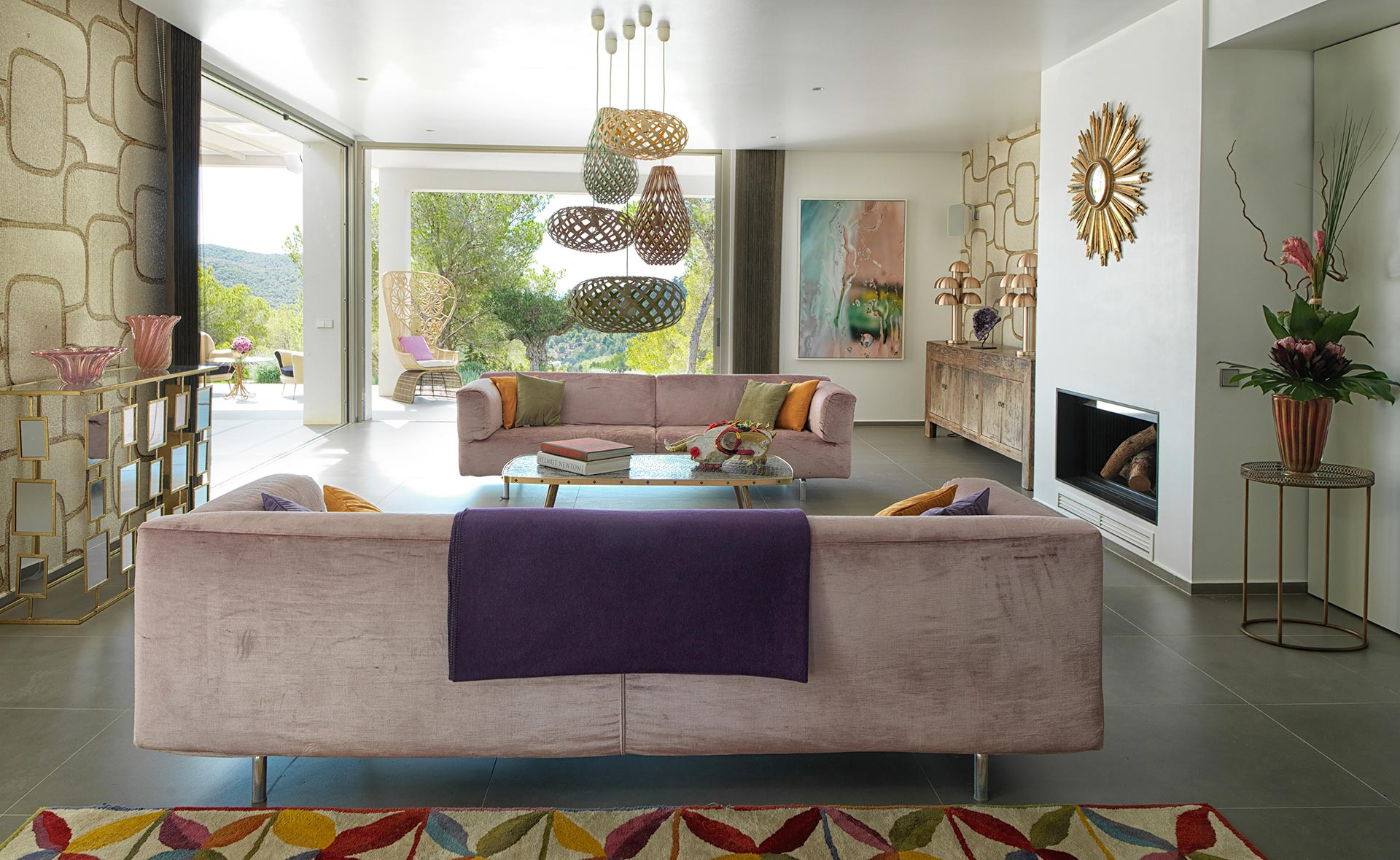 Brilliantly refurbished house on Ibiza-the living room