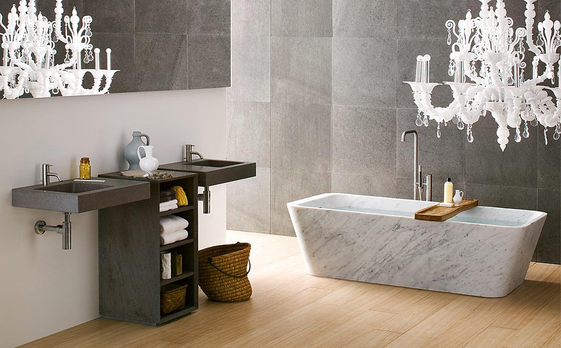Marble bathtub by Neutra