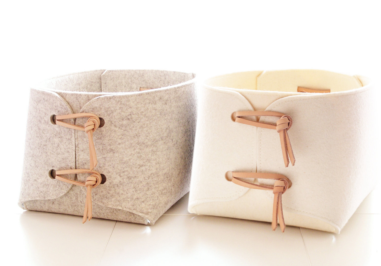 Merino-wool-felt-storage-bins
