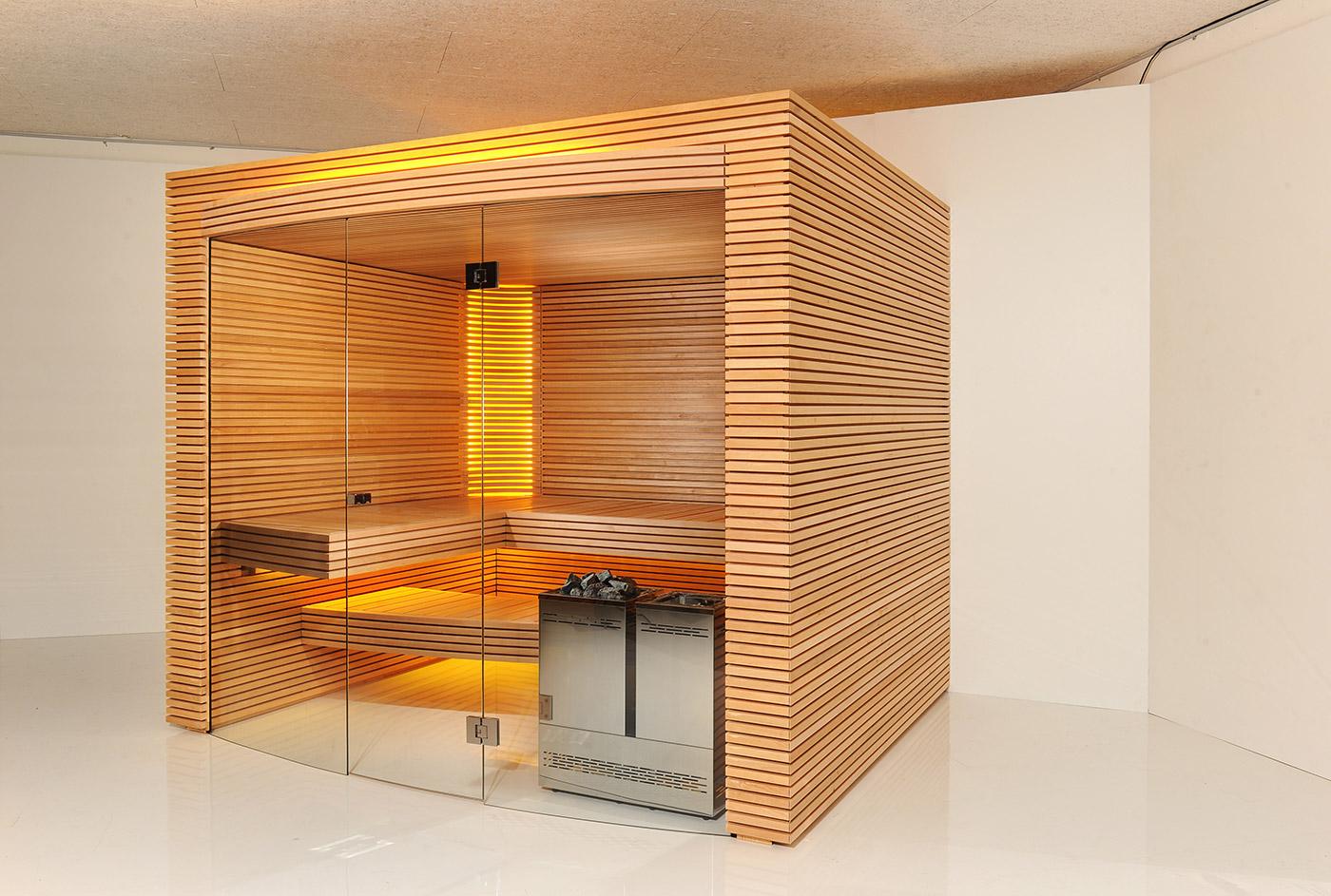 Swiss home sauna Ovola-side view
