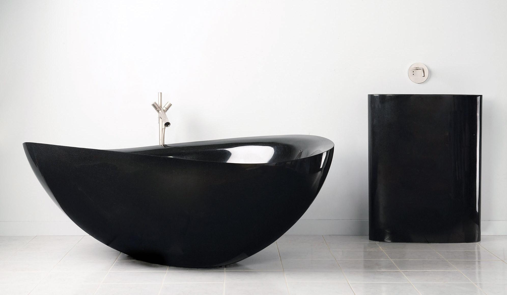 Black Granite Bathtub by Stone Forest