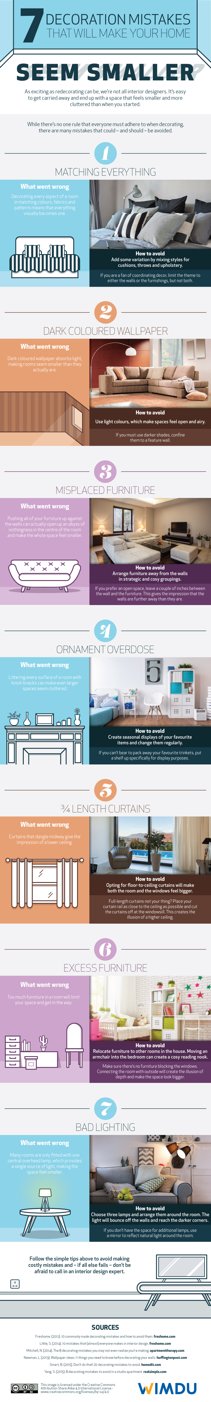 7 decoration mistakes infographic