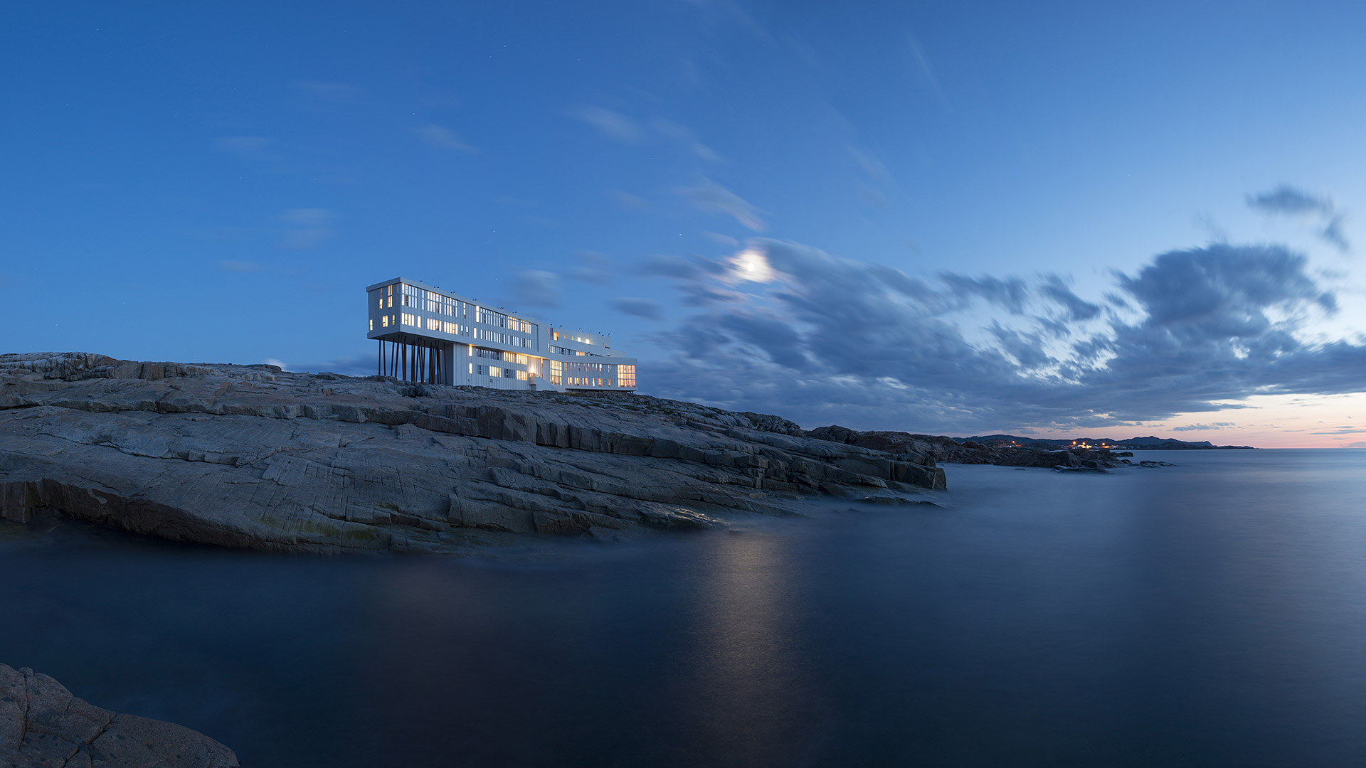 Fogo Island Inn night view