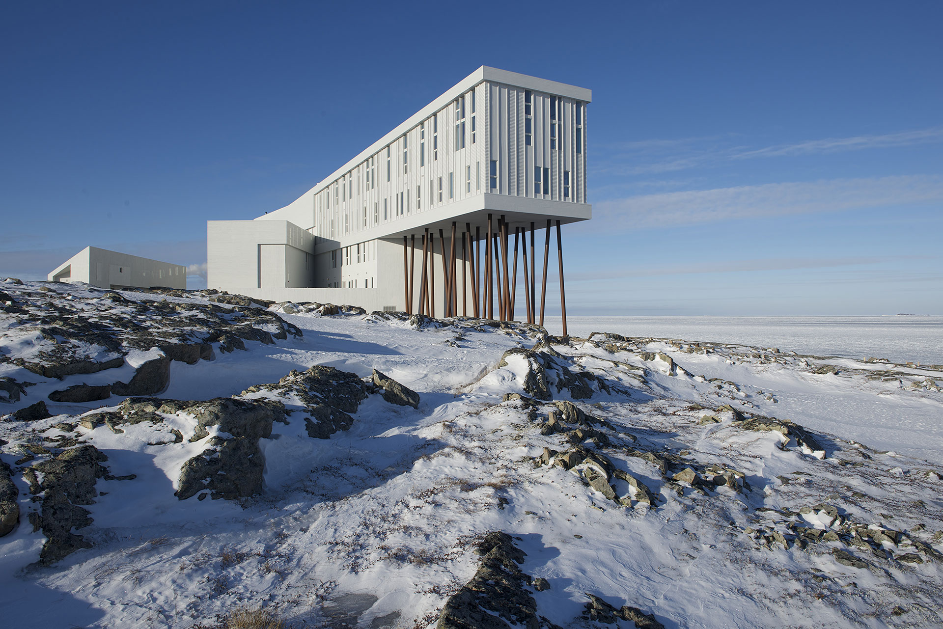 Fogo Island Inn in the winter