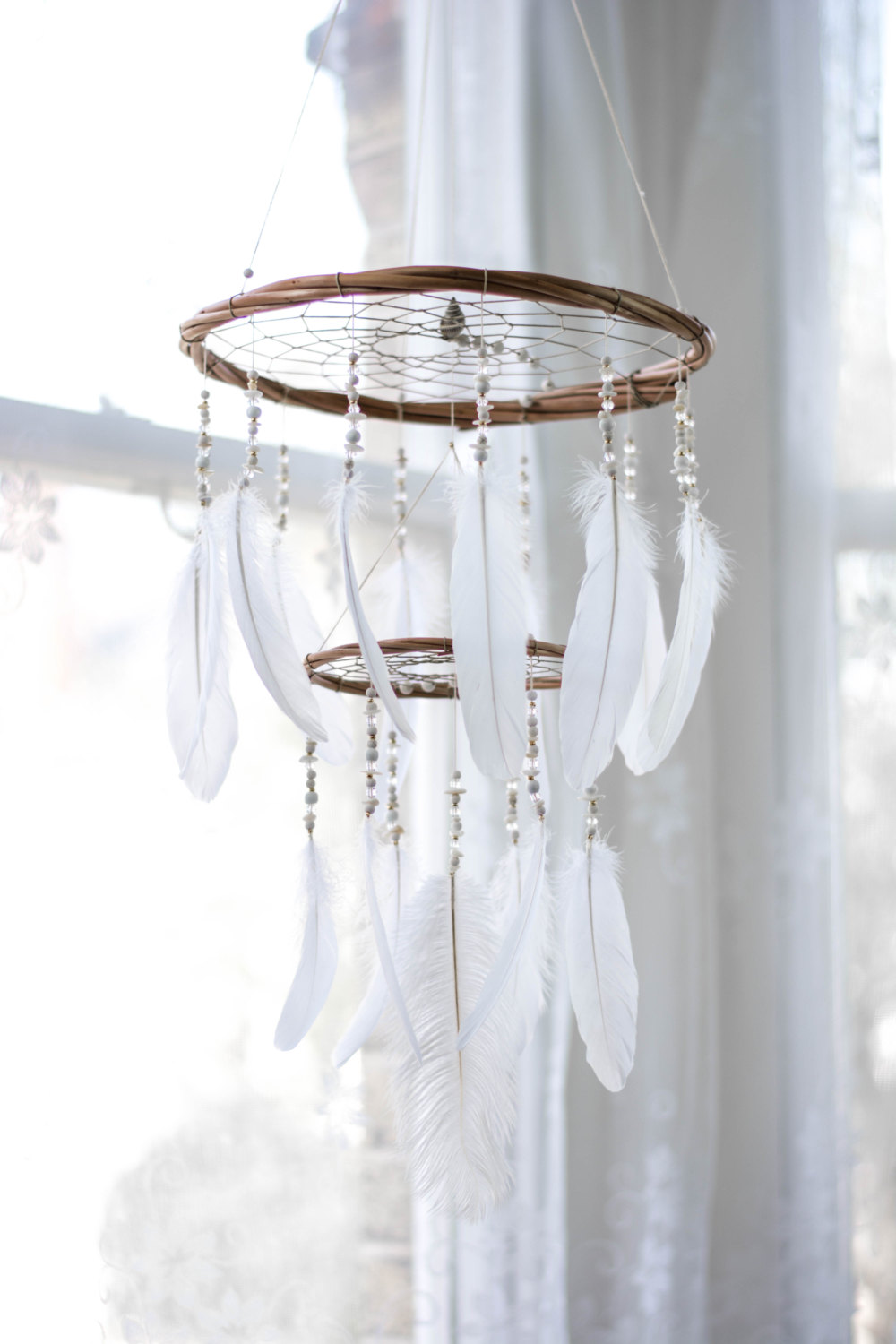 Handmade dream catchers adorable home for Luminaire suspension blanc