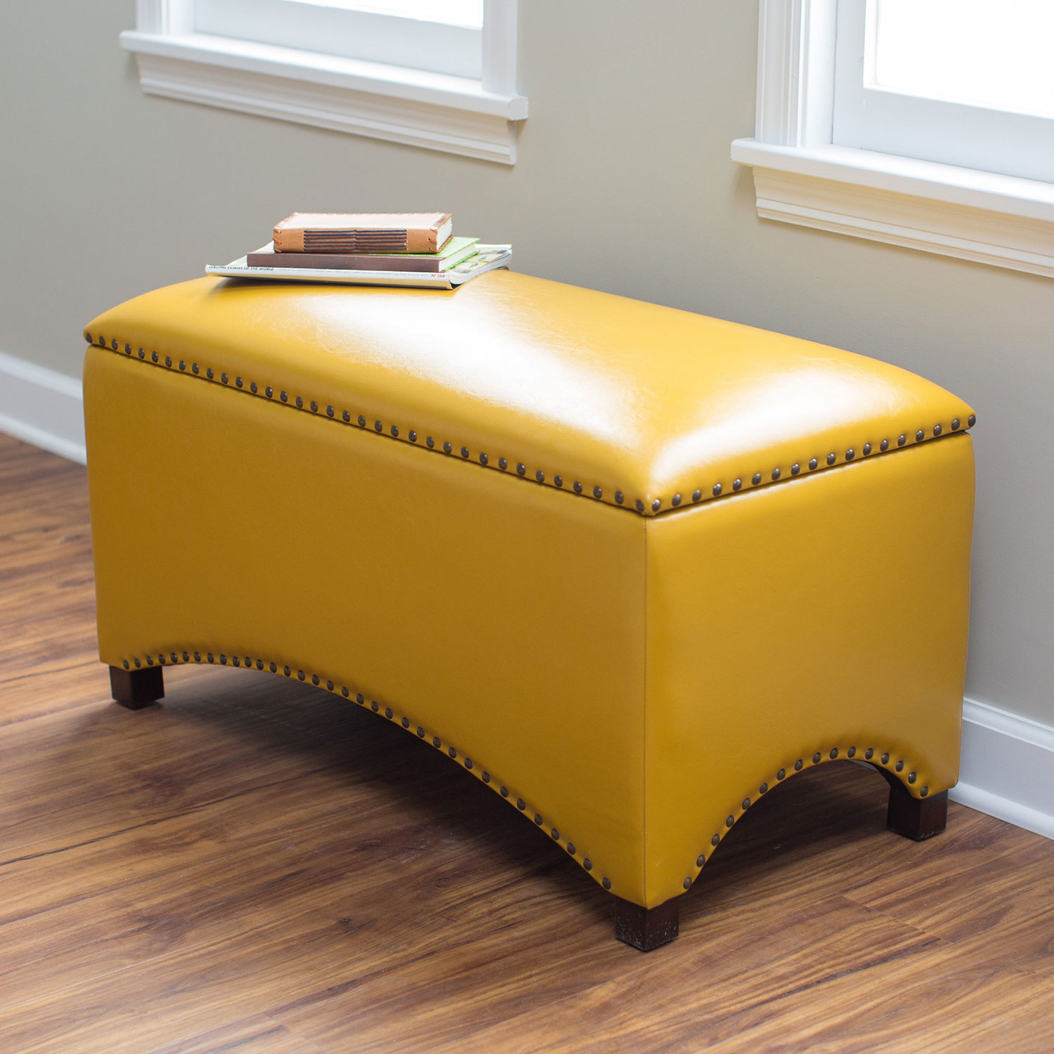 Unique Leather Storage Bench Adorable Home