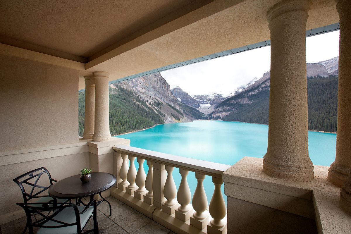 Balcony in Fairmont Chateau on Lake Louise