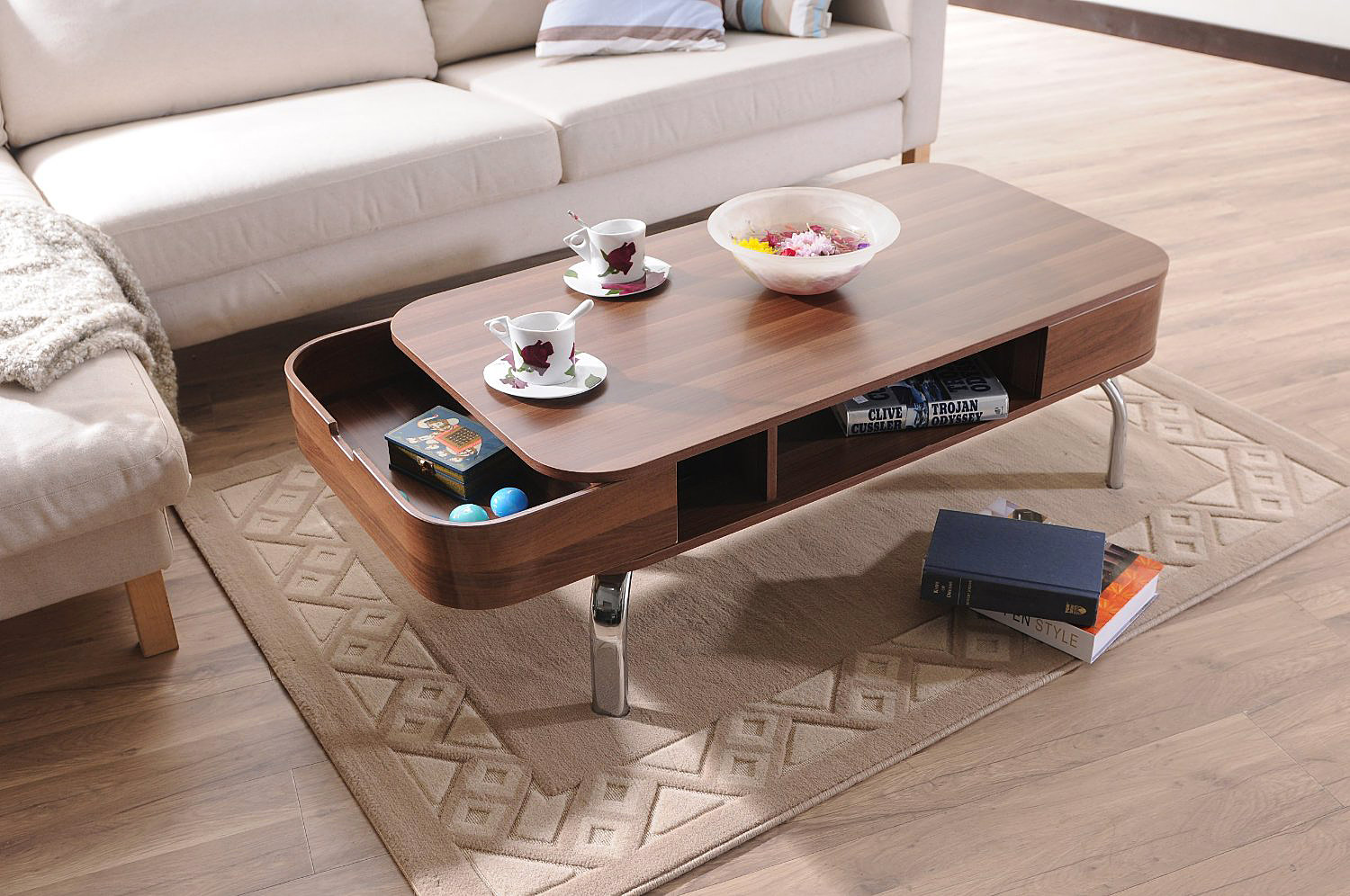 Modern Coffee Table With Drawers Adorable Home
