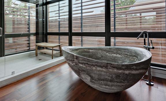 25+ Impressive Natural Stone Bathtubs