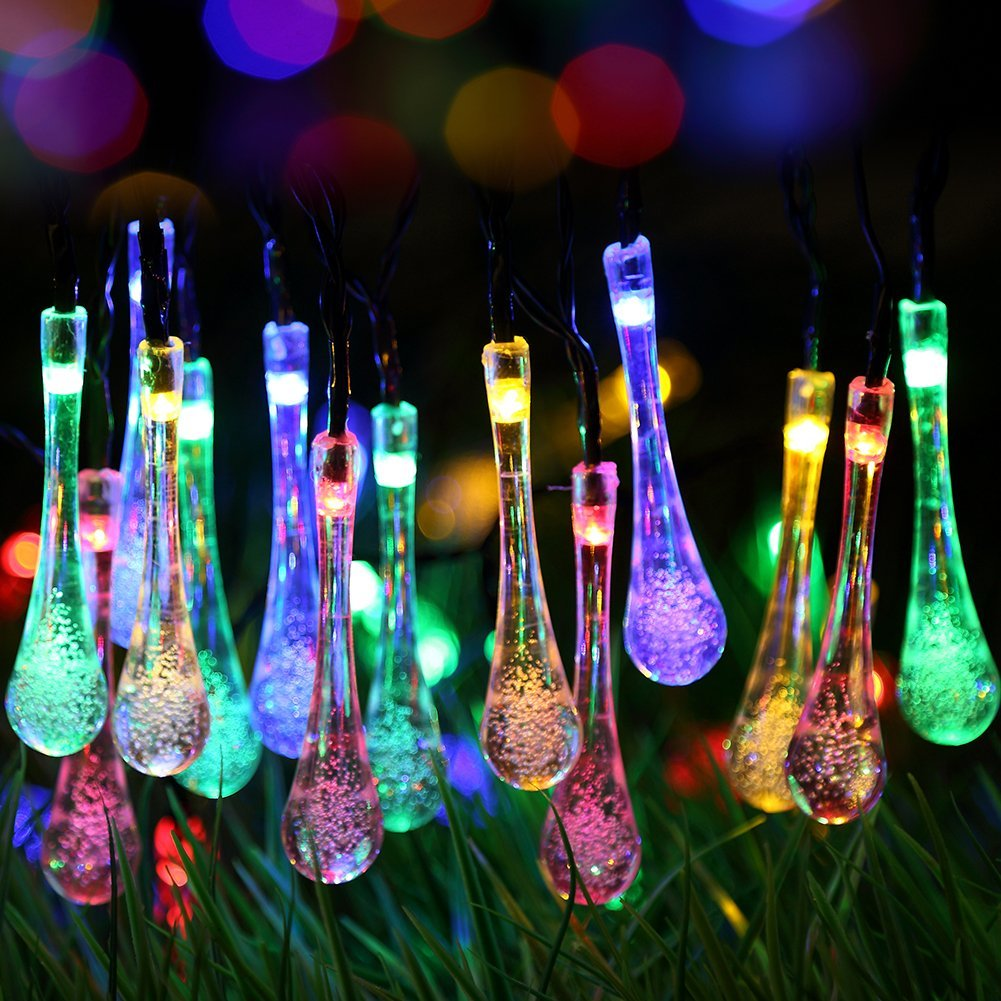 Outdoor solar string lights adorable home for Illumination exterieur noel