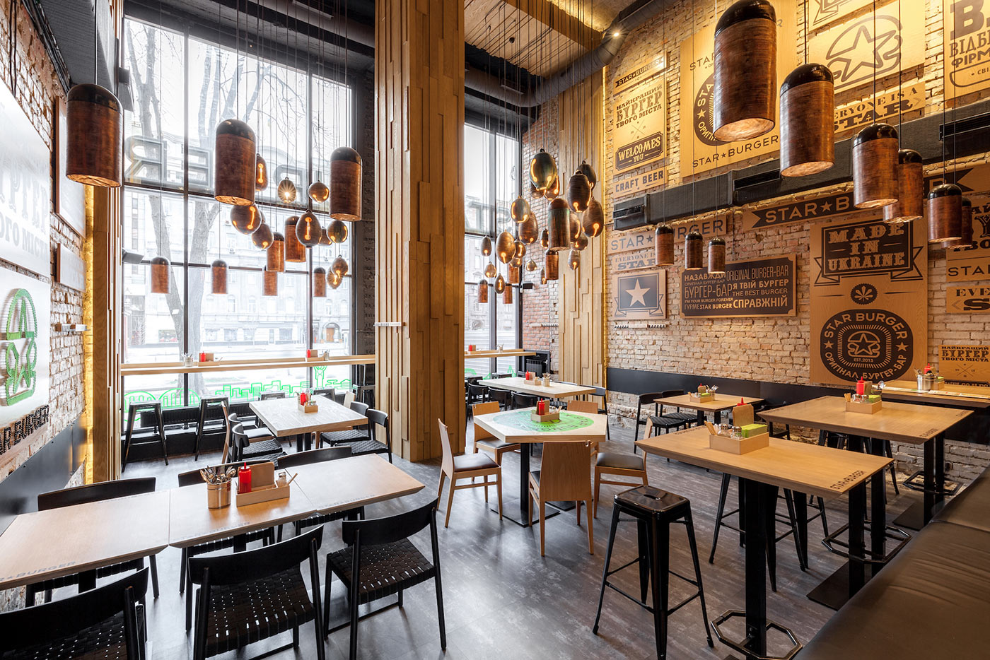 Star Burger: An Industrial Restaurant Design u2013 Adorable Home