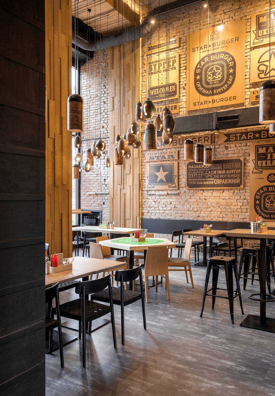 Star Burger: An Industrial Restaurant Design - Adorable Home