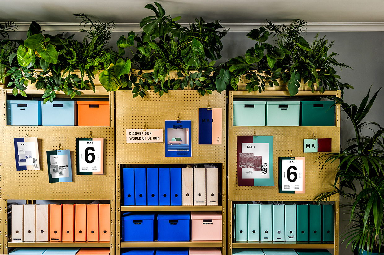 Colorful office filing system