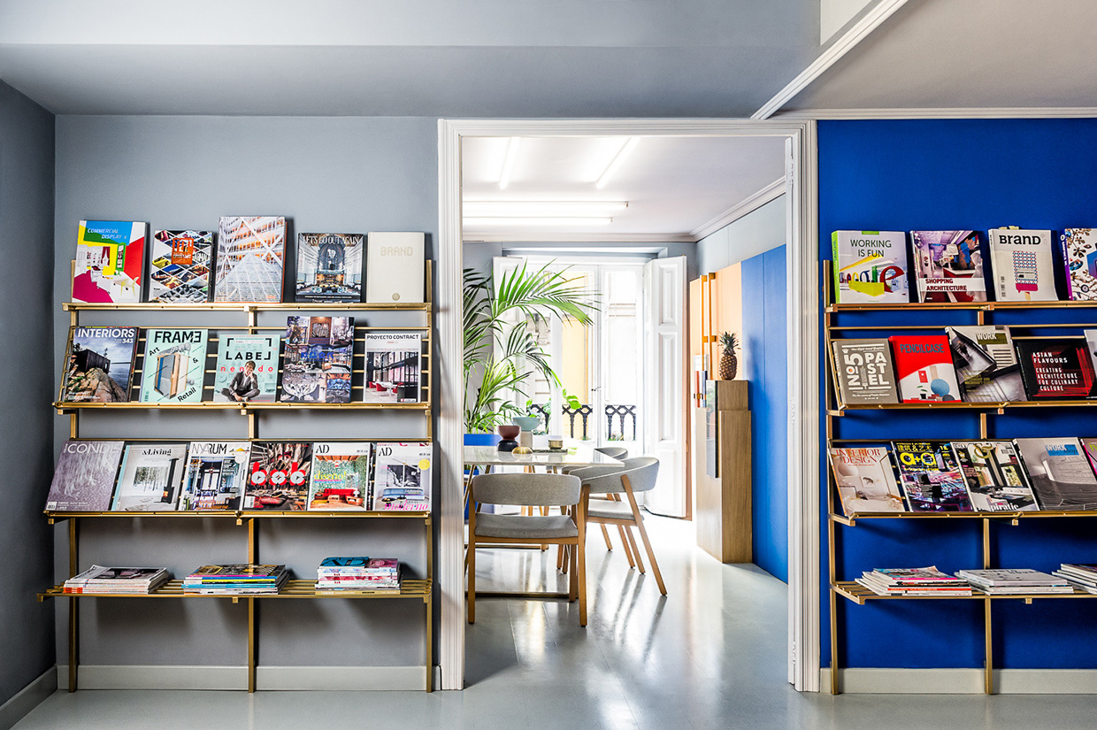 Waiting area with magazines