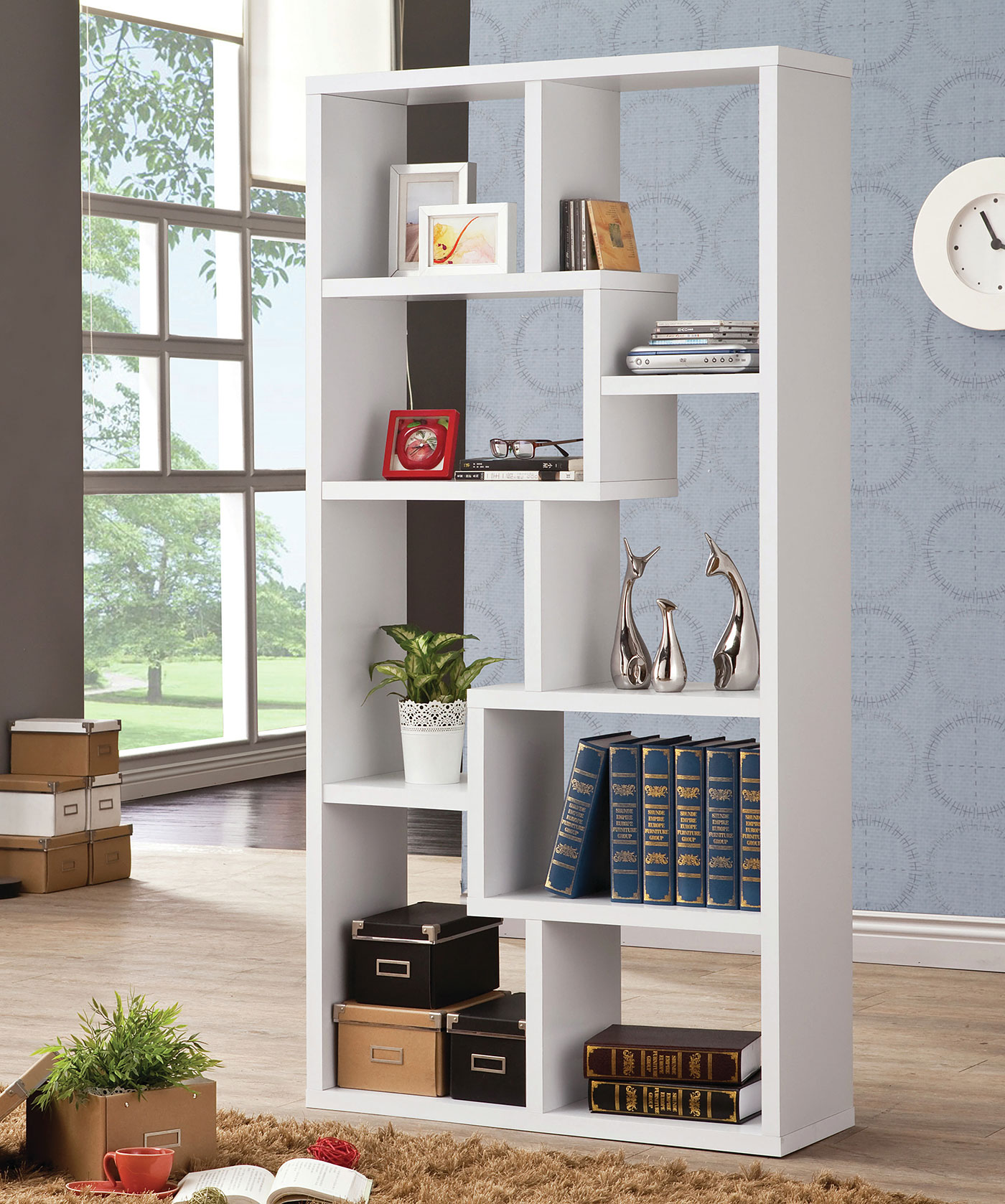 Idea for casual home bookcase - open shelving
