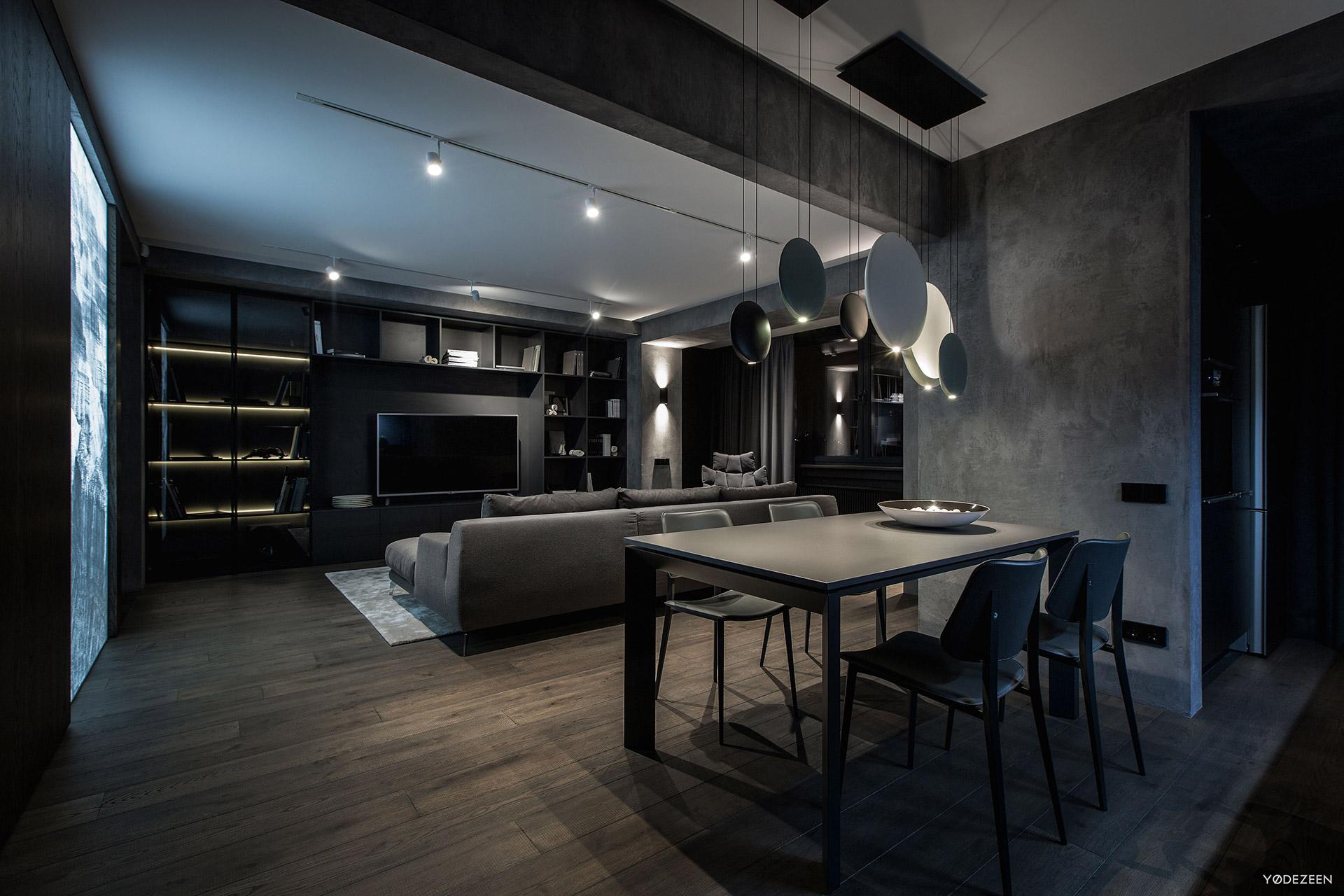Modern open plan residence