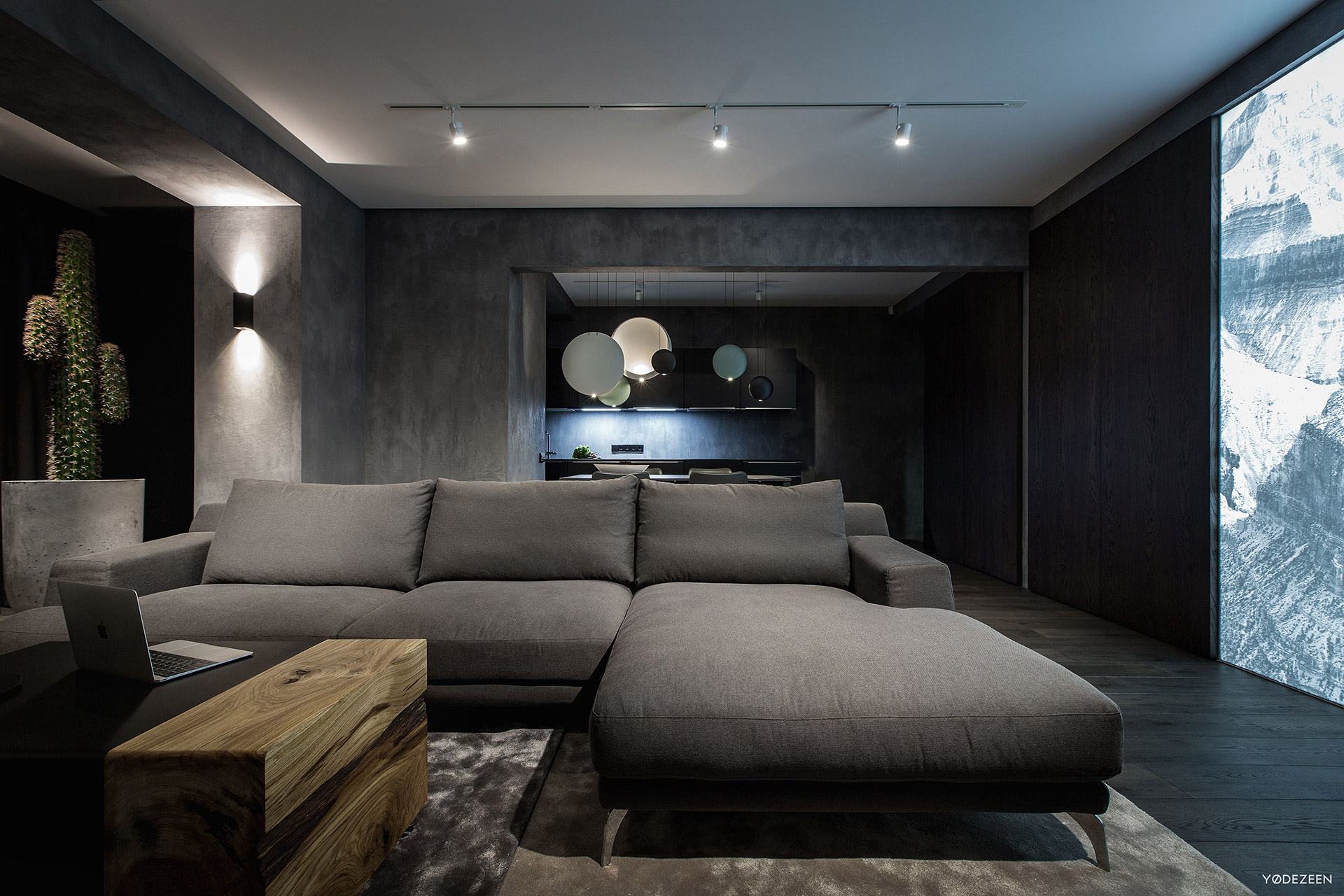 Contemporary grey sofa