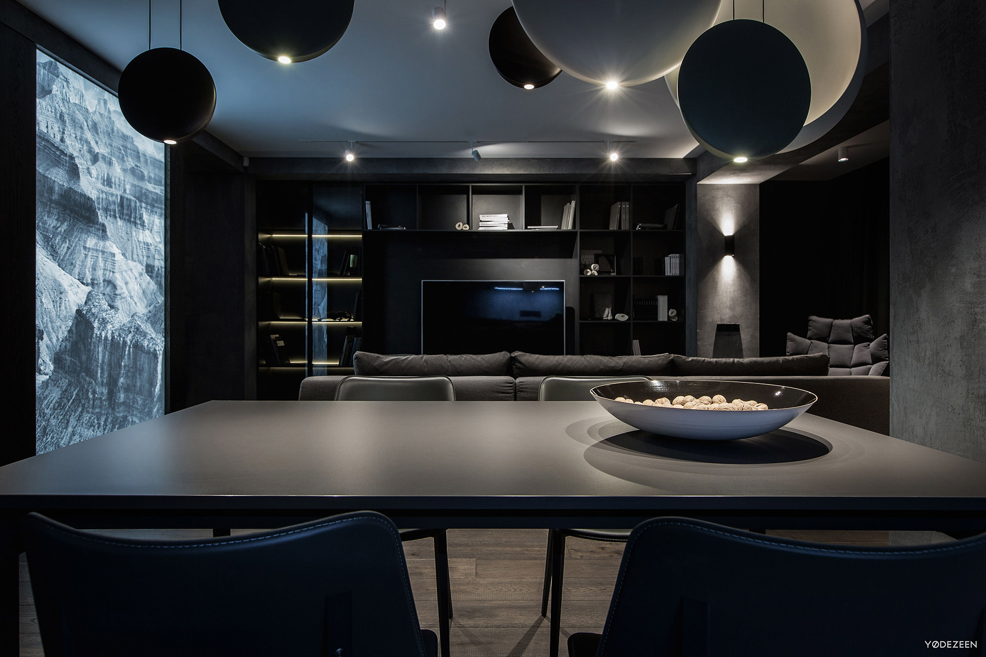 Dark interior design