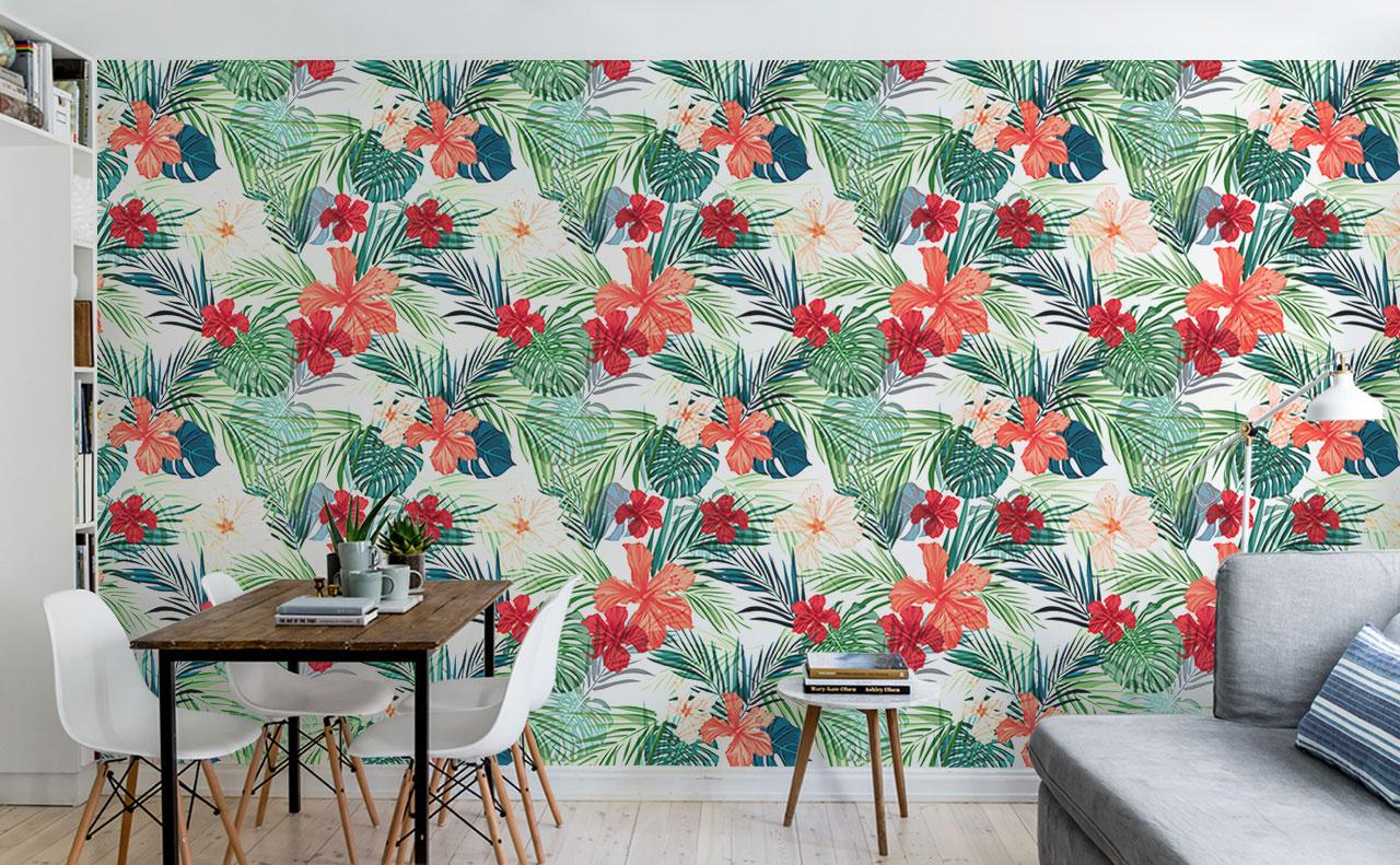 Colorful tropical wallpaper