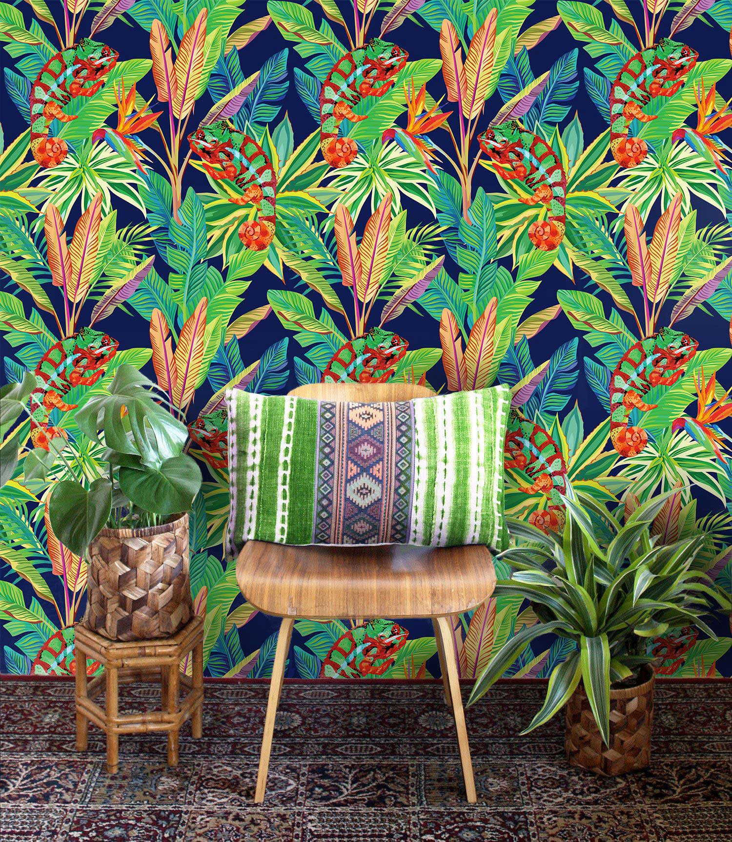 Bold And Colorful Tropical Wallpaper