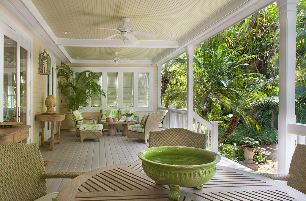Tropical Front Porch Design