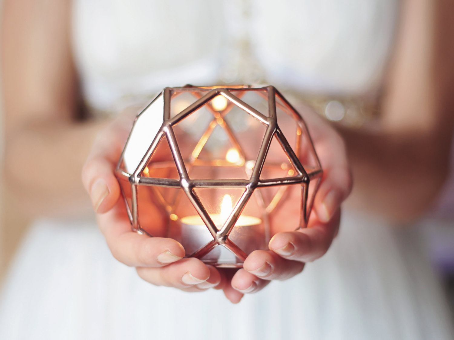 Geometric Glass Candle Holder Adorable Home