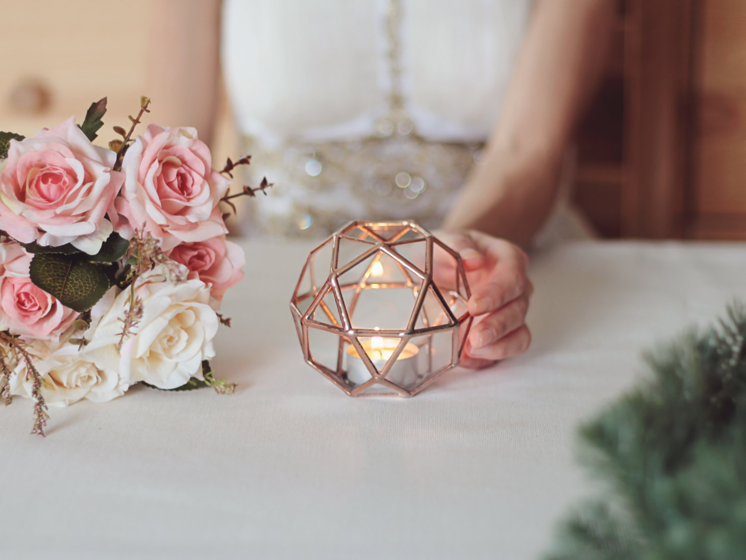 Delicate and stylish candle holder